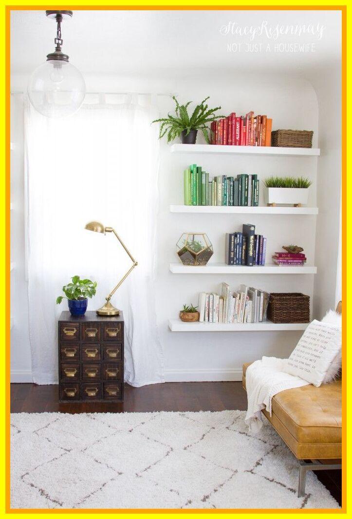32 Reference Of Bookshelf Ideas For Bedroom In 2020 Floating Shelves Living Room Living Room Shelves Wall Shelves Living Room