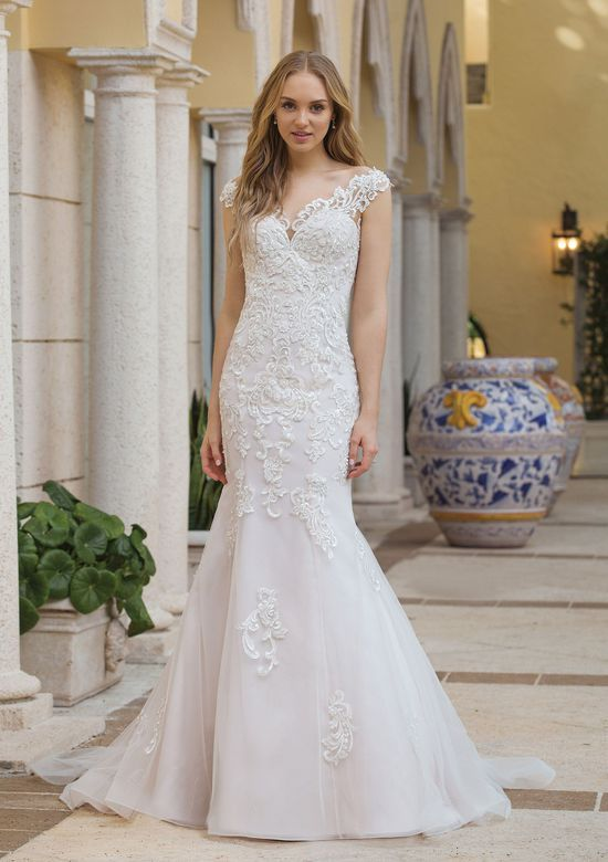929cf654c396 Janine by #SincerityBridal - Your magical day begins as you step into this  beaded illusion off the shoulder fit and flare gown. This dress features a  modern ...