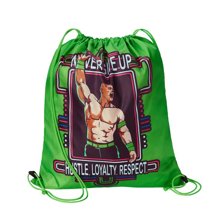 """This John Cena """"Neon"""" Drawstring Bag is essential for any member of the Cenation!"""