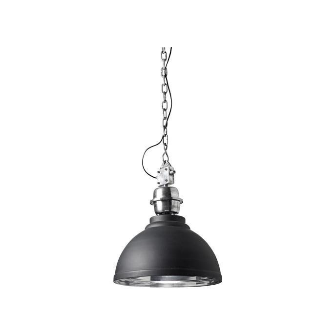 Antraciet metalen hanglamp. Max 40 Watt en grote fitting.