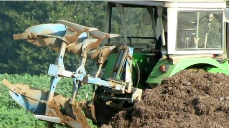 Oldtimer Traktoren  Deutz D 5206  beim Pflügen