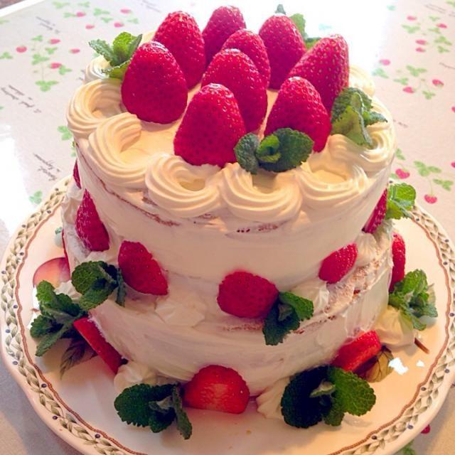 2段ケーキ - 131件のもぐもぐ - バースデーケーキ by imotomochi