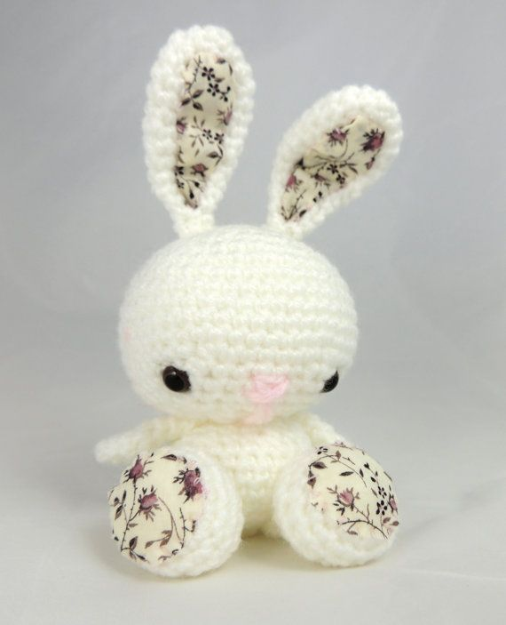 Crochet Bunny Rabbit Liberty Rose with Safety by SimplyStitcheduk, £10.00