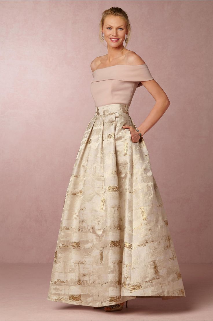 BHLDN Sophie Top & Skirt in  Dresses Mother of the Bride Dresses at BHLDN