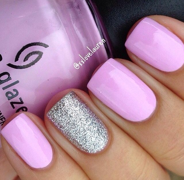 Pink with silver