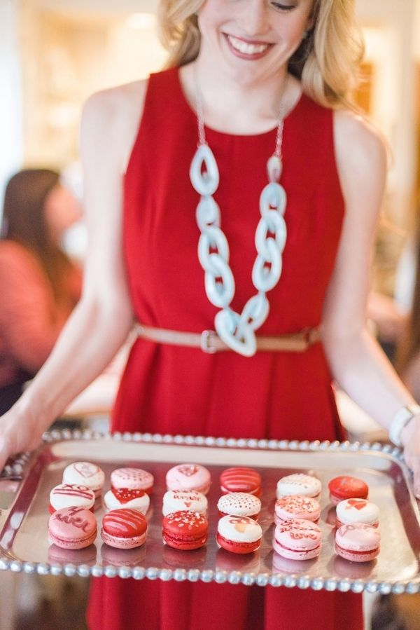 GALentine's Day Macaron Party with Your Besties! www.theperfectpalette.com - Love Be Photography, florals by SArias Creates, Hazy Skies Lettering