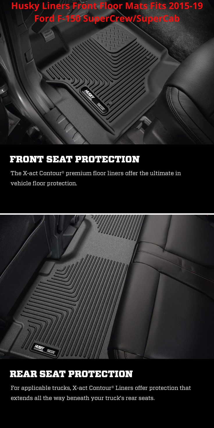 Front Floor Mats for 1519 Ford F150 SuperCrew/SuperCab in