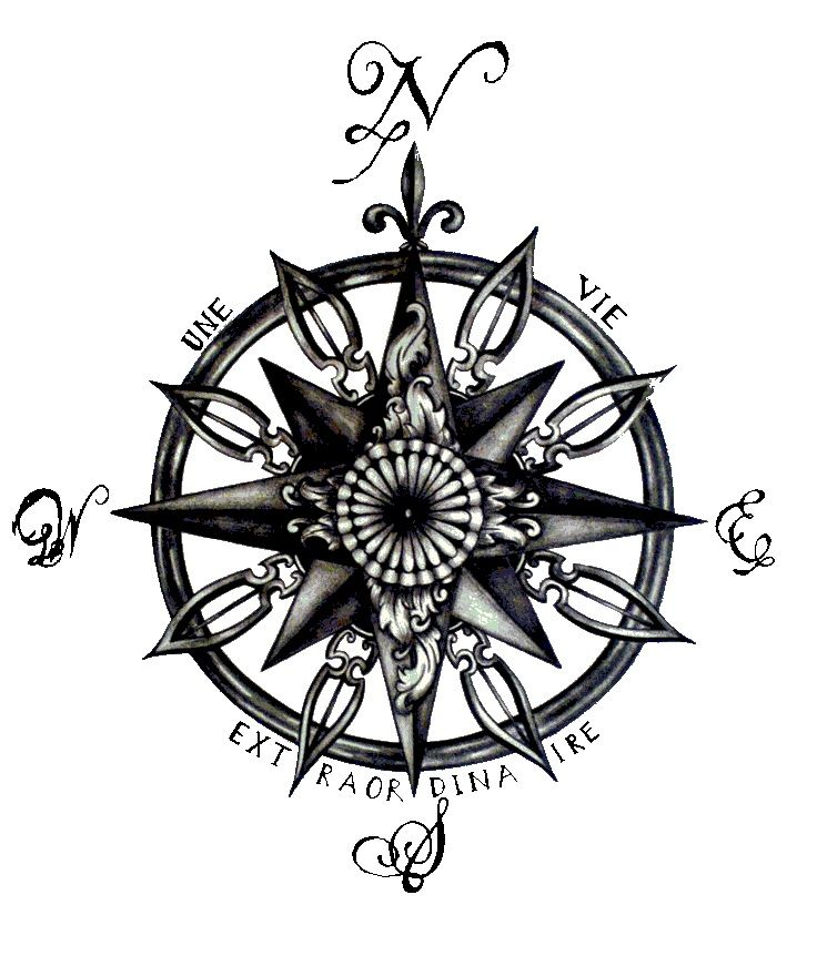 compass tattoo idea                                                                                                                                                      More