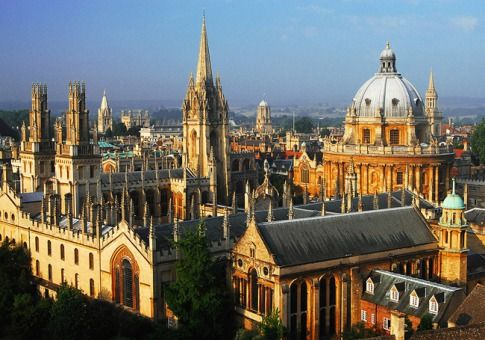 The dreaming spires of Oxford, where several scenes of Surrender the Stars are set.