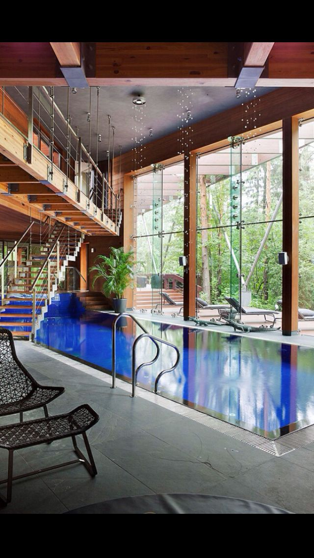 stunning indoor pool