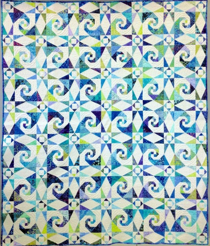 Sea Swept Pattern This is paper pieced - not my favorite technique. I need to find my copy of the Fall 2014 Quilt Sampler Magazine. I think it could be pieced rather than paper pieced.
