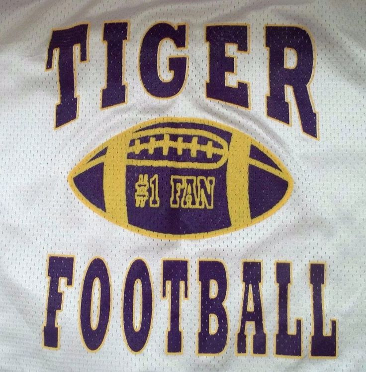 LSU Tiger Football #1 Fan Jersey Adult M Medium Louisiana State University #LSUTigers