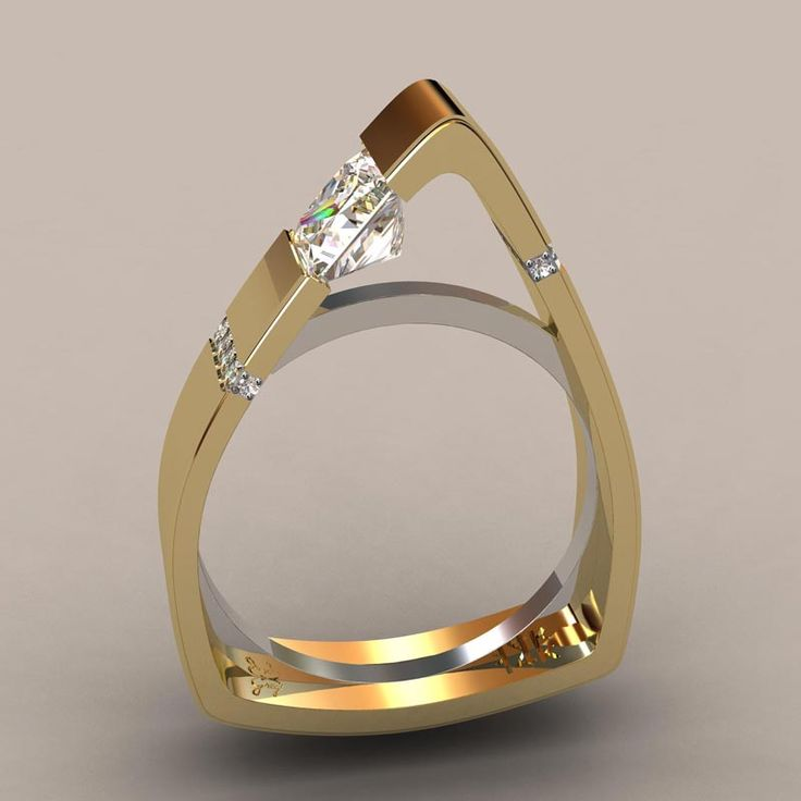 Greg Neeley Designs Custom Wedding Rings and Jewelry | Colorado.  North Face Princess Engagement ring - beautiful!