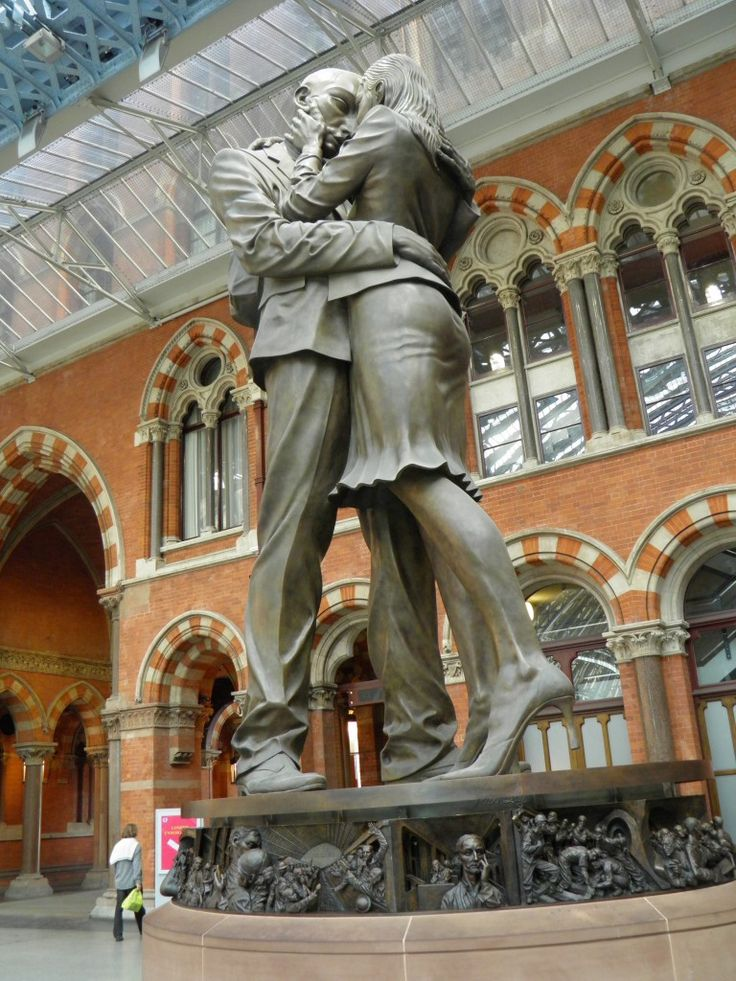 """St Pancras Station, London - """"The Meeting Place"""" by Paul Day"""