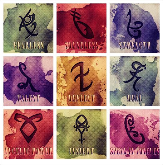Rune Symbols for angelic power | runes | Shadowhunters Italia
