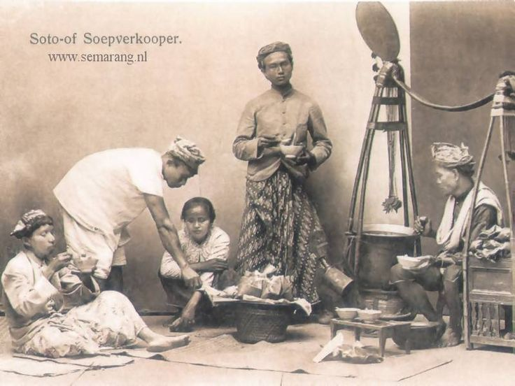 Semarang in the old days - Soto of Soepverkooper
