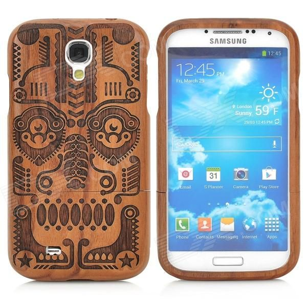 Brand: N/A; Quantity: 1 Piece; Color: Brown + black; Material: Wooden; Compatible Models: Samsung Galaxy S4; Other Features: Prevents scratches, dirt, and bumps as well as being shock-proof; Allows access to all buttons and functions; Easy to install and unload; Packing List: 1 x Back case; http://j.mp/1ljI9ST