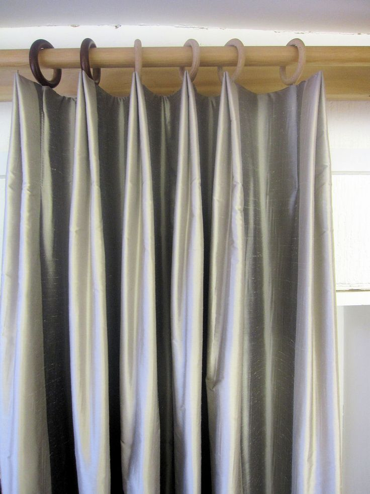 Variation Of A Double Pleat Pleated Curtains