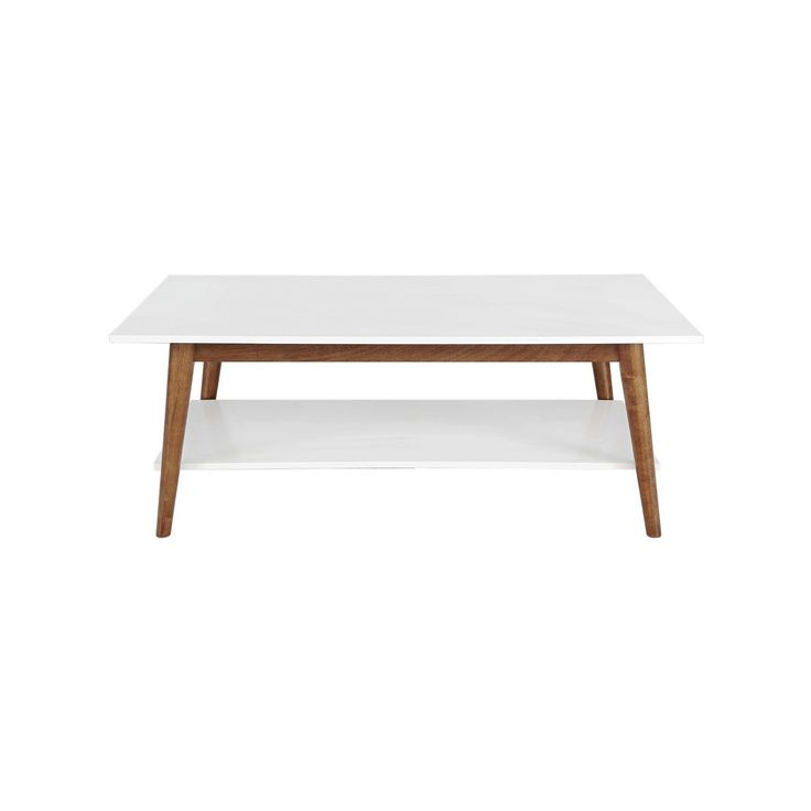 Amherst Mid Century Modern Two-Tone Coffee Table -White