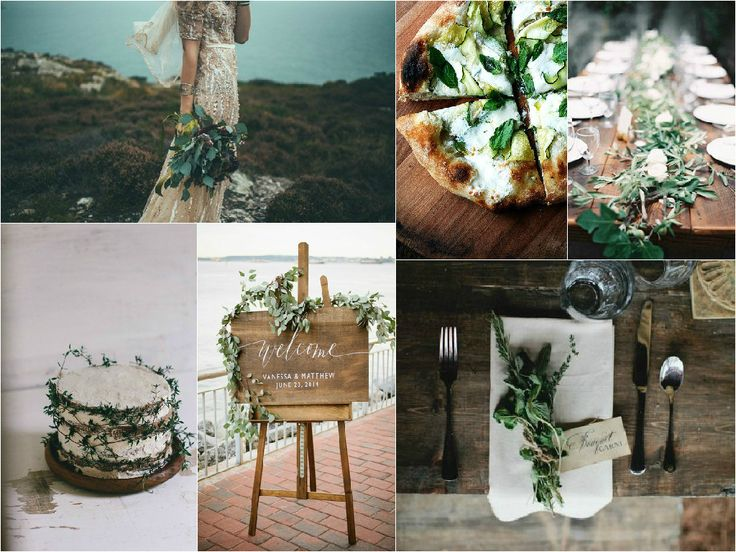 This Rustic, Green & Brown inspiration board designed by NZAWEP Student Stacey, would be perfect for a Rustic/Botanical themed wedding.