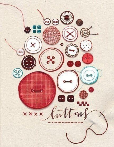 Buttons Print. by evajuliet via Etsy. her website is evajuliet.com