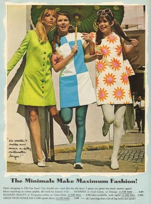 I need details on the fashions in the 1960's!?