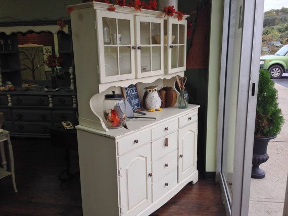 Country Cottage Hutch Shabby Chic Painted Furniture