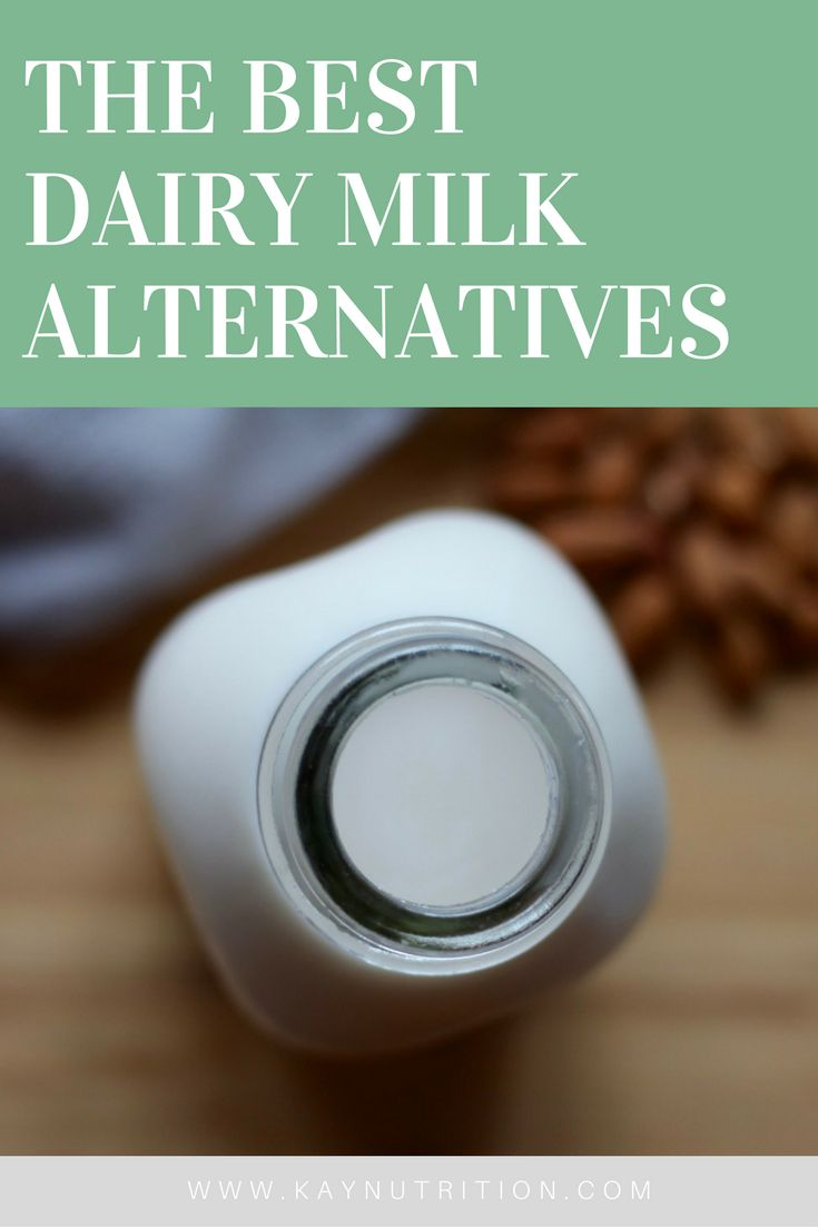 From almond to rice to soy, here are the Best Dairy Milk Alternatives that are easy to find at any local grocery store.