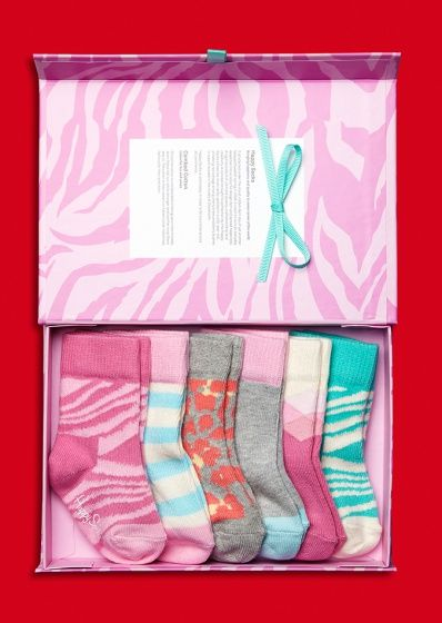 Cool gifts for infant! Cool socks in a pack of 6 pairs at HappySocks.com