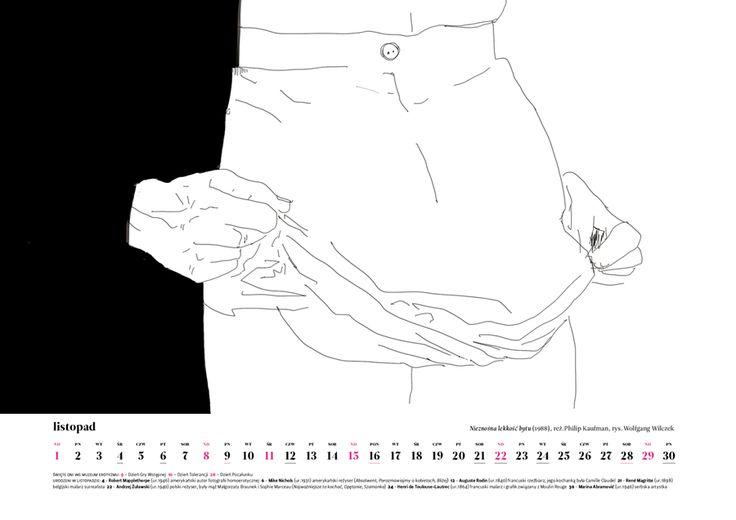 November 2015, erotic art by Wolfgang Wilczek, inspiration: Unbearable lightness of being (1988) by Philip Kaufman. Order Museum of Eroticism Erotic Scenes Calendar only till January 16 (price: $20 + shipping from Poland) muzeumerotyzmu@gmail.com http://ero2015.tumblr.com/ Inside: erotic art, erotic feasts, anniversaries, eroticism personalities #ero2015 #eroticart #eroticism #erotic #calendar #erotyzm #erotyka #ulob #kundera #upskirt #bw #art #drawing #kalendarz #calendario #film #movie