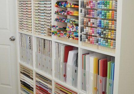 Paper Craft Storage in IKEA Shelving