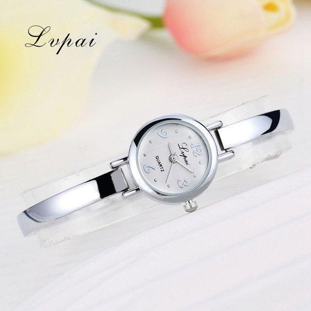 Lvpai 2017 Top Brand Luxury Watch Women Dress Bracelet Watch Fashion Crystal Quartz Wristwatch Classic Gold Ladies Casual Watch