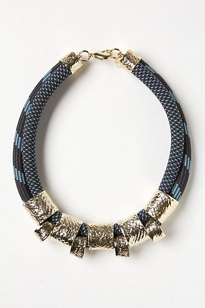 Clinched Bungee Necklace  #anthropologie