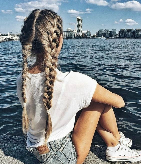 These loose easy long French plaits