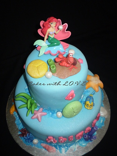 Little Mermaid Cake I Think The More Simple The Better Apparently Little Mermaid