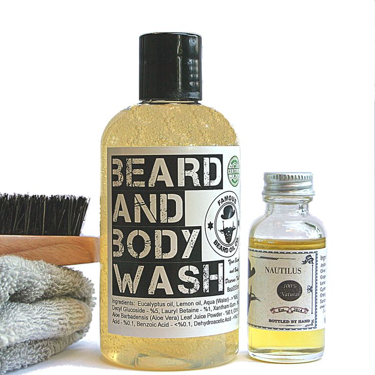 Eucalyptus & Lemon Beard Wash & Nautilus Beard Oil Set!  Perfect for Valentine's Day use code bemoan 14 for 14% off your order