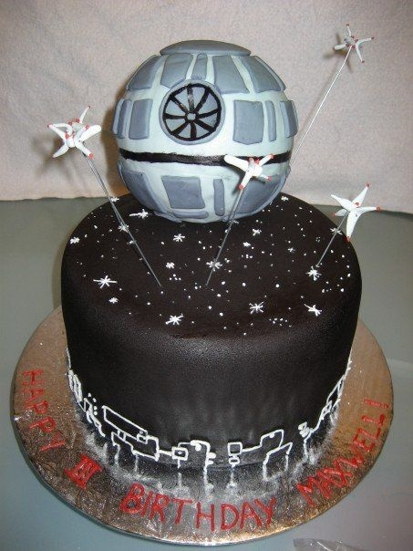 death star cakes made without fondant