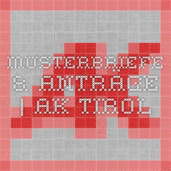 Musterbriefe & Anträge | AK Tirol