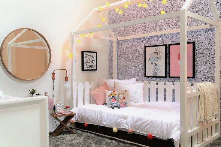 cama Marias por Dtrend arquitetura para Mostra Apronta quartos infantis 2017 cama cabana quarto de menina black and white decor girls rooms