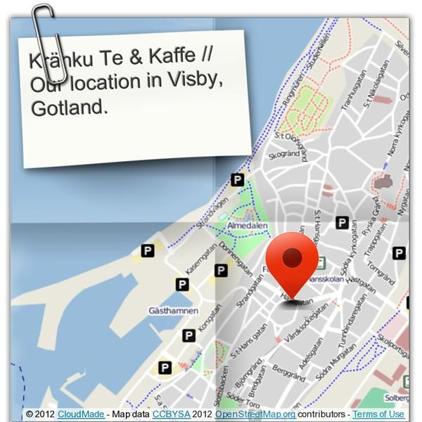 Stop by next time you're in town! See you at S:t Hansplan 4 in Visby.