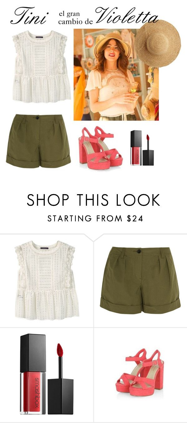 """Tini el gran cambio de Violetta"" by stylewiktoria ❤ liked on Polyvore featuring Violeta by Mango, Burberry, Smashbox, New Look and Flora Bella"