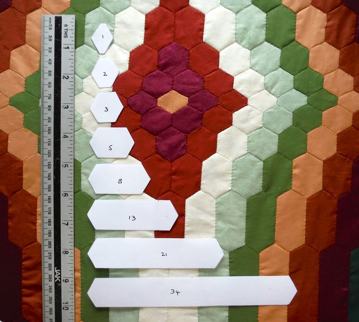 25 best fibonacci hexagon patchwork by jackie wills images on fibonacci paper templates from patchworktemplates pronofoot35fo Images