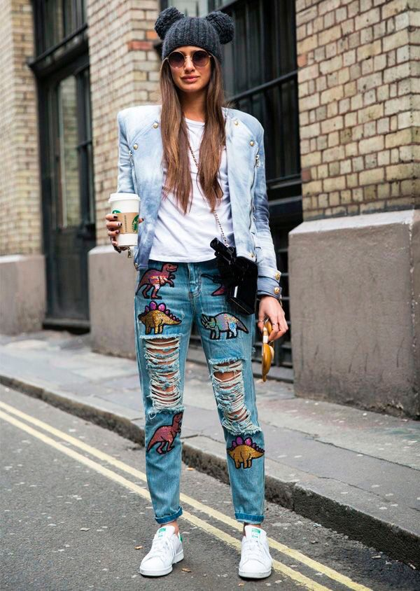 Patches   Inspiration Coquelicot  #streetstyle