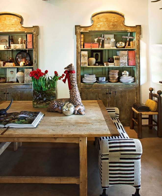 Rustic Dining Room | Wiseman & Gale Interiors | Dering Hall Design Connect In partnership with Elle Decor, House Beautiful and Veranda.