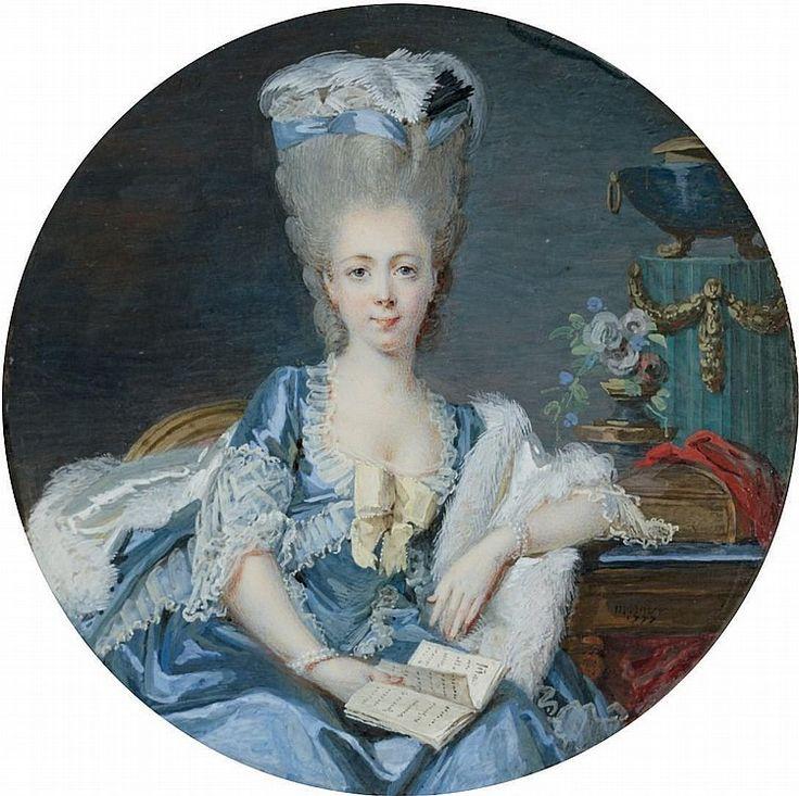 1777 Jean Laurent Mosnier, Portrait d'une dame de qualité.