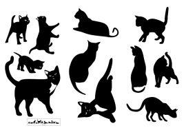 """Виниловые наклейки """"Грациозные кошки"""", 11 шт."""