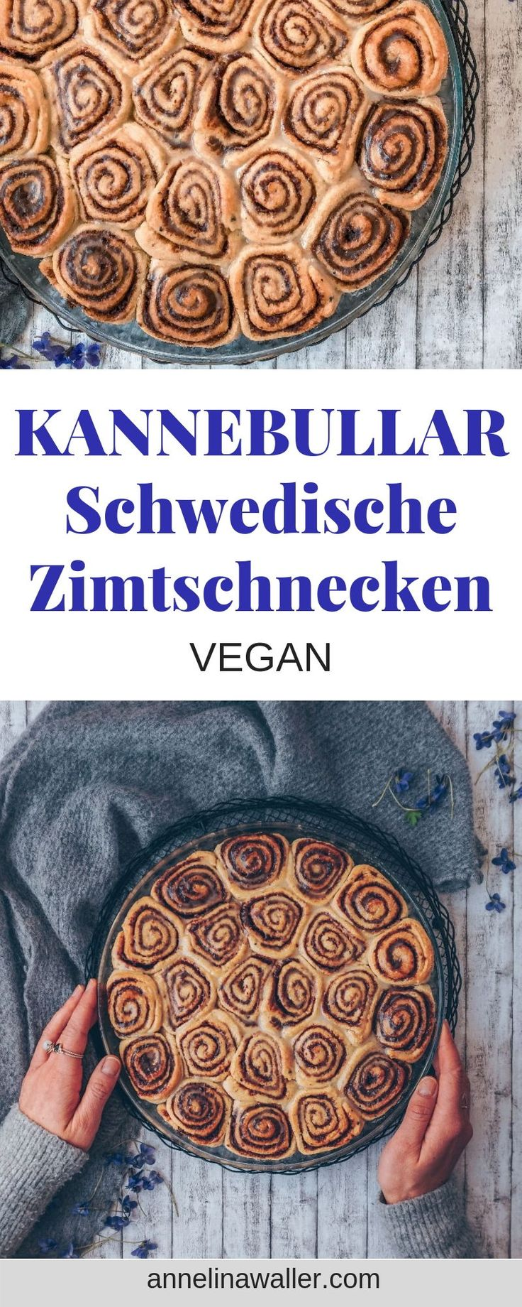(Kanelbullar) Schwedische Zimtschnecken | vegan