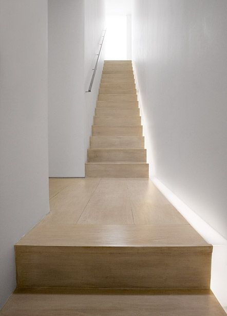John Pawson House, London - Stair light
