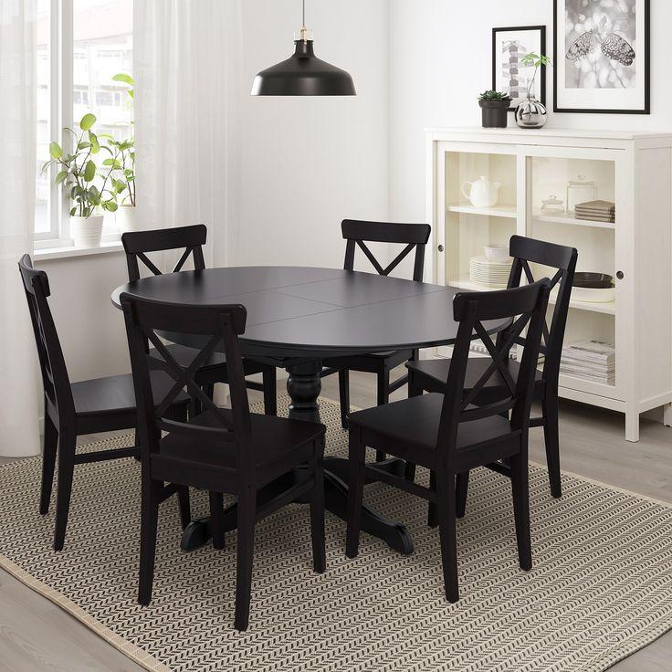 Ingatorp Extendable Table Black 431 4, Ikea Dining Room Furniture