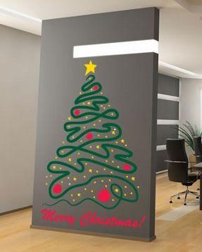 christmas tree with star wall decal